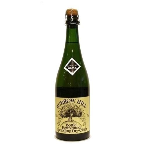 Burrow Hill Kingston Black Bottle Fermented Sparkling Dry Cider 75cl